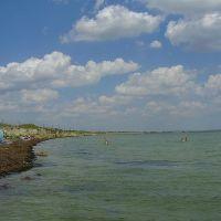 Геническ, пляж, Горностаевка