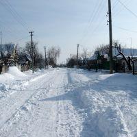 Улица Шевченко зимой, Днепряны