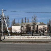 Вид на 2-ю школу с улицы Карла Маркса., Новая Каховка