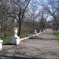 Архитектура 50-х. Ограда парка., Новая Каховка