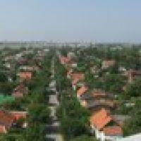 Панорама Новой Каховки с колокольни Свято- Андреевского храма, Новая Каховка