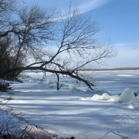Днепр во льдах, Новая Каховка