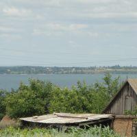 Вид на с.Марьяское с Нововоронцовки, Нововоронцовка