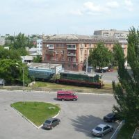 """View from 5th floor of hotel """"Meridian"""". Very noisy due permanent manoeuvring of cargo trains: not reccomended :( June, 2009, Херсон"""