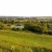 Краєвид на Білогіря з пагорба, Белогорье