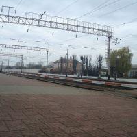 Станция Волочиск. Первая платформа. Вид в сторону Подволочиска, Волочиск