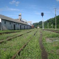 Станция Виктория. Вид в сторону Лисовод, Городок