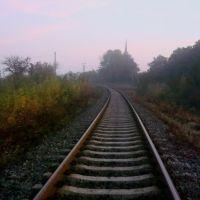 Железнодорожная линия Гусятин - Ярмолинцы. Перегон Виктория - Новолисогорка, Городок