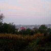 Вид на Городок с железной дороги, Городок