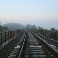 Железнодорожная линия Гусятин - Ярмолинцы. Перегон Виктория - Новолисогорка. Мост, Городок