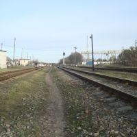 Станция Изяслав. Вид в сторону Шепетовки, Изяслав