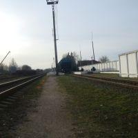 Станция Изяслав. Вид в сторону Клембовки, Изяслав