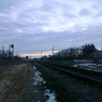 Железнодорожная линия Тернополь - Шепетовка. Перегон Изяслав - Клубовка, Изяслав