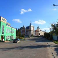 Изяслав. Вид с улицы на костёл Св. Иосифа., Изяслав