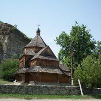 Каменец-Подольский - Крестовоздвиженская деревянная церковь на Карвасарах., Каменец-Подольский