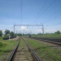 Станция Понинка. Вид в сторону Полонного, Полонное