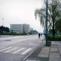 UKRAINE - Boulevard dans la Ville de Netechine, Нетешин