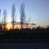 Sunset Budivelnykiv street, Нетешин