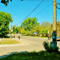 09.05.2008  10:09  Проспект Т.Г.Шевченка перед автостанцией., Звенигородка