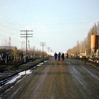 Straße Richtung Talnoje - Frühjahr 1978, Тальное
