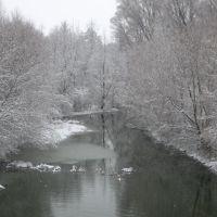 мост зимой, Борзна