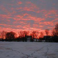 Зимний закат, Борзна