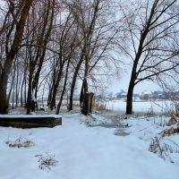 Река зимой, Борзна