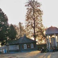 У дворі Спасо-Преображенської церкви, Ичня