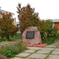 Памятный знак погибшим односельчанам в Афганской войне., Козелец