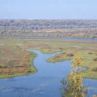 Вид на реку Десну со стен монастыря. Новгород-Северский, Новгород Северский