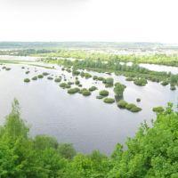 Вид на десну с монастырского вала, Новгород Северский