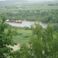 Вид з монастиря на р.Десну, Новгород Северский