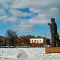"""Ленін у м. Щорс, який вказує """"світлий путь"""" на ресторан - Shchors towns Lenin directed """"light path"""" to restaurant, Щорс"""