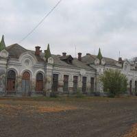 вокзал у Новоселиці, поч. ХХ століття ♦ railway station Novoselytsia, Новоселица