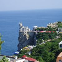 Gaspra (Crimea, Ukraine) - Swallows Nest castle / Гаспра (Крим) - Замок Ластівчине гніздо на мисі Ай-Тодор, Курпаты