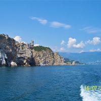 Крым. Вид с моря на Ласточкино гнездо., Курпаты