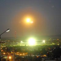 Big red moon over the stadium. Ночное солнце., Мисхор