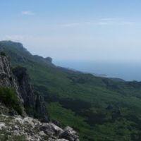 Панорама Айпетринского массива, Оползневое
