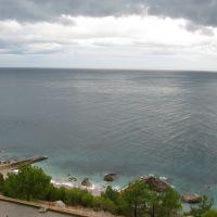 Кацивели, вид на пляж с территории заброшенного пансионата, Понизовка