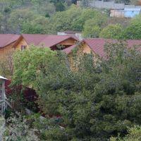 Кацивели, Отель Яхонт, вид на домики нижнего участка, Понизовка