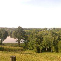 Вид на ставок и церкву, Вендичаны