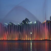"The evening show at the Fountain ""Roshen"", Винница"