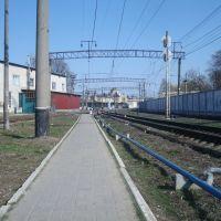 Станция Жмеринка. Вдали - вокзал, Жмеринка
