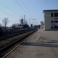 Станция Жмеринка. 5 платформа. Вид в сторону Жмеринки-Подольской, Жмеринка