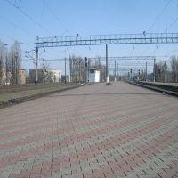 Станция Жмеринка. 2 и 3  платформа. Вид в сторону Котовска, Жмеринка