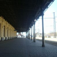 Станция Жмеринка. 1  платформа. Вид в сторону Винницы, Жмеринка