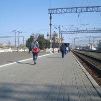 Станция Жмеринка. 1  платформа. Вид в сторону Котовска, Жмеринка