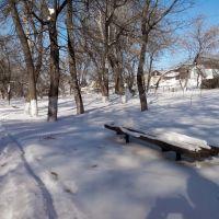 Заснеженная лавочка в парке (Зима 2014), Липовец
