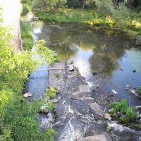 Вертикальная панорама с моста с видом на речку, Липовец