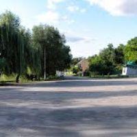 Панорама перед мостом на перекрёстке, Липовец